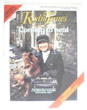 Radio Times magazine - Nerys Hughes cover (21-27 February 1987)