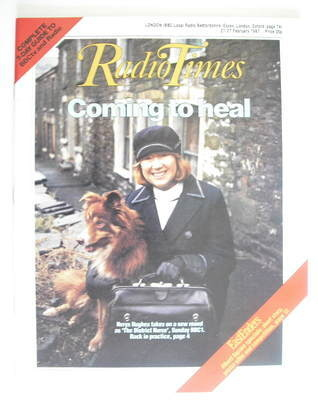 <!--1987-02-21-->Radio Times magazine - Nerys Hughes cover (21-27 February