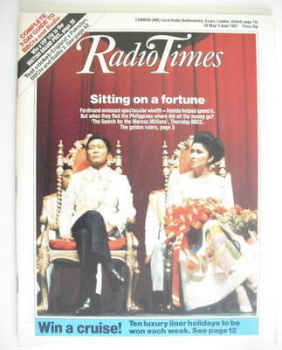 Radio Times magazine - Sitting On A Fortune cover (30 May - 5 June 1987)