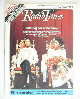 <!--1987-05-30-->Radio Times magazine - Sitting On A Fortune cover (30 May