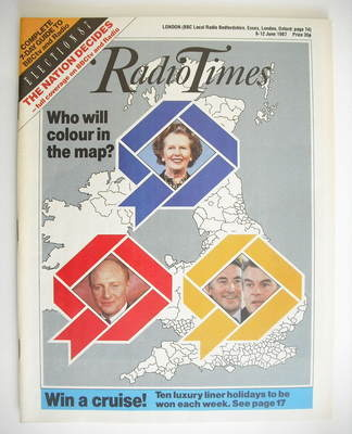 <!--1987-06-06-->Radio Times magazine - Election 87 cover (6-12 June 1987)