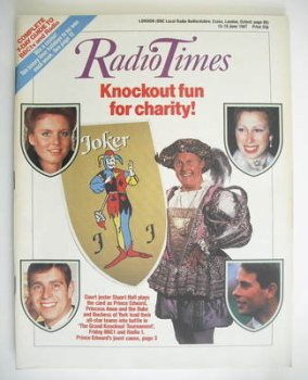 Radio Times magazine - The Grand Knockout Tournament cover (13-19 June 1987)