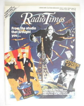 Radio Times magazine - The RKO Story cover (27 June - 3 July 1987)