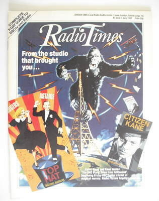 <!--1987-06-27-->Radio Times magazine - The RKO Story cover (27 June - 3 Ju