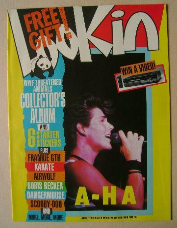 <!--1986-10-04-->Look In magazine - Morten Harket cover (4 October 1986)