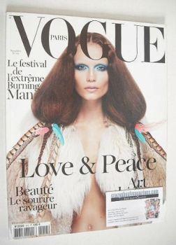 French Paris Vogue magazine - November 2010 - Natasha Poly cover