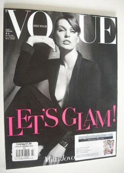 German Vogue magazine - February 2011 - Milla Jovovich cover
