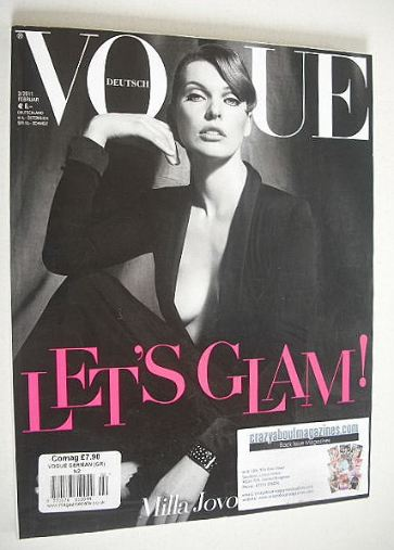 <!--2011-02-->German Vogue magazine - February 2011 - Milla Jovovich cover