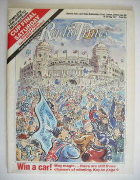 Radio Times magazine - FA Cup Final cover (16-22 May 1987)