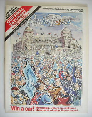 <!--1987-05-16-->Radio Times magazine - FA Cup Final cover (16-22 May 1987)