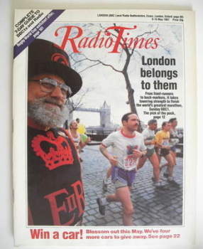 Radio Times magazine - London Marathon cover (9-15 May 1987)