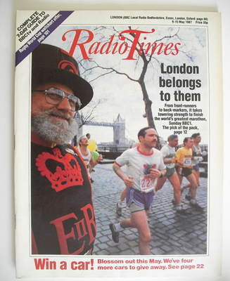<!--1987-05-09-->Radio Times magazine - London Marathon cover (9-15 May 198