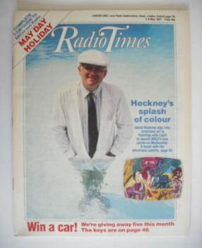 Radio Times magazine - David Hockney cover (2-8 May 1987)