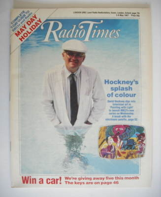 <!--1987-05-02-->Radio Times magazine - David Hockney cover (2-8 May 1987)