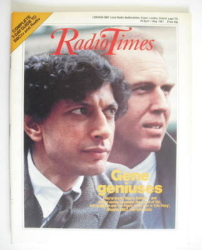 Radio Times magazine - Jeff Goldblum and Tim Pigott-Smith cover (25 April - 1 May 1987)