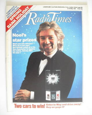 <!--1987-05-23-->Radio Times magazine - Noel Edmonds cover (23-29 May 1987)