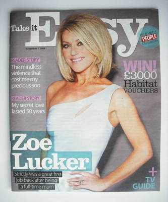 <!--2009-11-01-->Take It Easy magazine - Zoe Lucker (1 November 2009)
