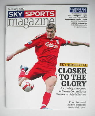 sky sports magazine february 2009 steven gerrard cover. Black Bedroom Furniture Sets. Home Design Ideas