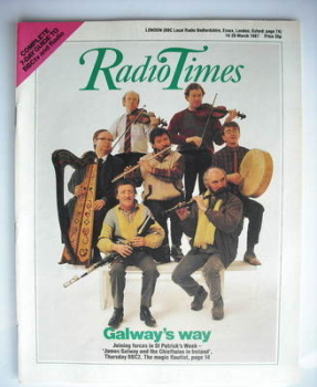 Radio Times magazine - James Galway and the Chieftains cover (14-20 March 1987)