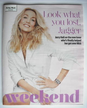<!--2010-07-31-->Weekend magazine - Jerry Hall cover (31 July 2010)