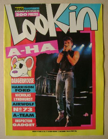 <!--1986-12-13-->Look In magazine - Morten Harket cover (13 December 1986)