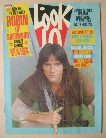 <!--1984-04-28-->Look In magazine - Michael Praed cover (28 April 1984)