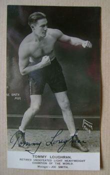 Tommy Loughran autograph