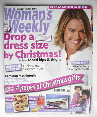 <!--2007-11-06-->Woman's Weekly magazine (6 November 2007 - British Edition