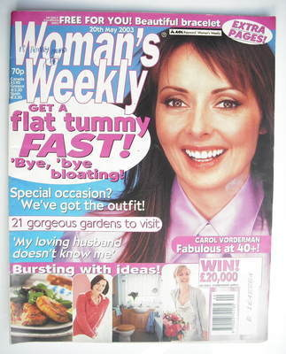 <!--2003-05-20-->Woman's Weekly magazine (20 May 2003 - Carol Vorderman cov