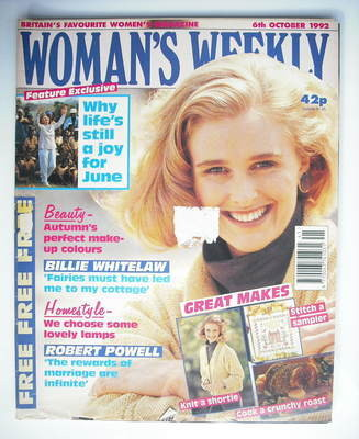 <!--1992-10-06-->Woman's Weekly magazine (6 October 1992)