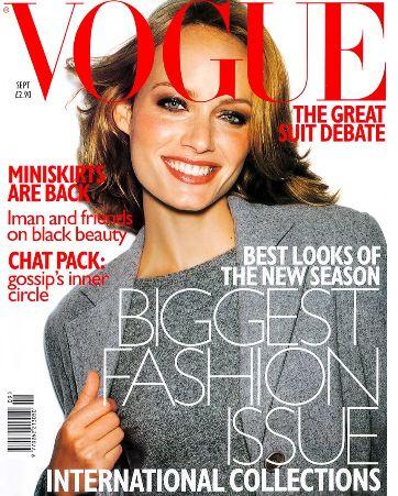 <!--1997-09-->British Vogue magazine - September 1997 - Amber Valletta cove