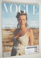 <!--1993-05-->British Vogue magazine - May 1993 - Tatjana Patitz cover