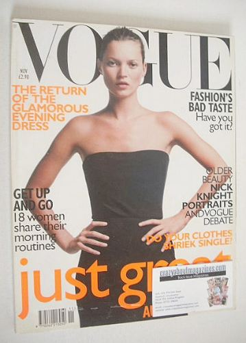 <!--1998-11-->British Vogue magazine - November 1998 - Kate Moss cover