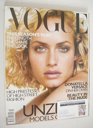 <!--1998-10-->British Vogue magazine - October 1998 - Amber Valletta cover