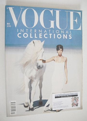 <!--1990-03-->British Vogue magazine - March 1990 - Helena Christensen cove