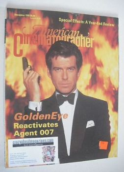 American Cinematographer magazine - Pierce Brosnan cover (December 1995)