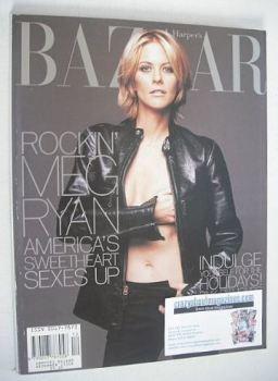 Harper's Bazaar magazine - December 1998 - Meg Ryan cover
