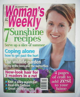 <!--1998-08-04-->Woman's Weekly magazine (4 August 1998)