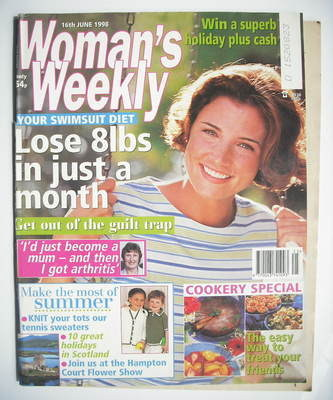 <!--1998-06-16-->Woman's Weekly magazine (16 June 1998)