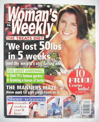<!--1998-08-18-->Woman's Weekly magazine (18 August 1998)