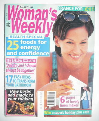 <!--1998-07-07-->Woman's Weekly magazine (7 July 1998)