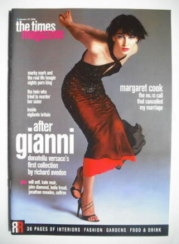 The Times magazine - Erin O'Connor cover (10 January 1998)