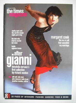 <!--1998-01-10-->The Times magazine - Erin O'Connor cover (10 January 1998)
