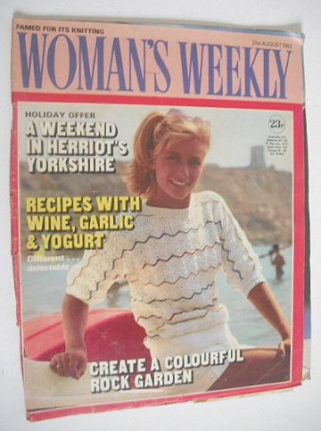 <!--1982-08-21-->Woman's Weekly magazine (21 August 1982 - British Edition)