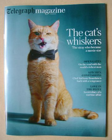 <!--2016-10-22-->The Daily Telegraph magazine - Bob the Cat cover (22 Octob