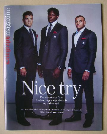 <!--2016-10-29-->The Daily Telegraph magazine - Henry Slade, Maro Itoje and