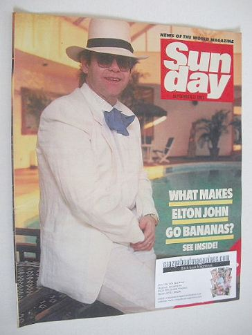 <!--1985-09-22-->Sunday magazine - 22 September 1985 - Elton John cover
