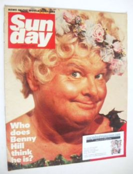 Sunday magazine - 15 January 1984 - Benny Hill cover