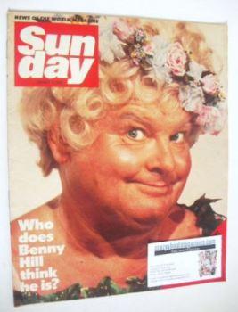 Sunday magazine - 15 January 1984 - Benny Hill cover