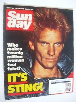 Sunday magazine - 29 January 1984 - Sting cover